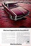 1967 Sporty PONTIAC Magazine Ad