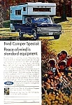 Click here to enlarge image and see more about item AU0708C8: 1967 FORD PICKUP CAMPER Magazine Ad