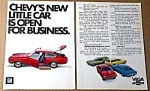 Click here to enlarge image and see more about item AU0708D1: 1971 CHEVY VEGA Magazine Ad