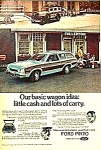 Click here to enlarge image and see more about item AU0710A5: 1974 FORD PINTO WAGON Automobile Ad