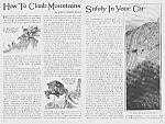 Click to view larger image of 1926 CLIMB MOUNTAINS IN YOUR AUTO Mag Article (Image1)