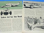 Click here to enlarge image and see more about item AU1002BB1: 1957 SABRE JET AUTOMOBILE Magazine Article