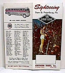 Click here to enlarge image and see more about item AU1005A1: 1950s GRAY LINE Sightseeing BUS Tour Brochure