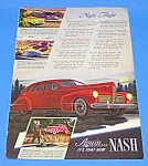 Awesome 1940 NASH Color Auto Ad