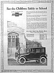 1923 CHEVROLET MOTOR CAR Art Deco Mag. Ad