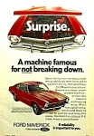 Click here to enlarge image and see more about item AU1224A6: 1972 FORD MAVERICK Auto Ad REMEMBER?