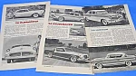 Click here to enlarge image and see more about item AU301AB1: 1956 CAR MODELS REVIEW Studebaker+ Mag. Article