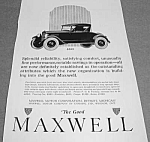 1922 MAXWELL Automobile Ad