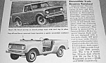 1961 CONVERTIBLE SCOUT Truck Magazine Article