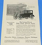 Click here to enlarge image and see more about item AU906AA1: 1924 CHEVROLET Magazine Auto Ad