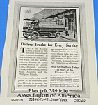 Click here to enlarge image and see more about item AU906AA5: 1913 ELECTRIC TRUCKS Ad