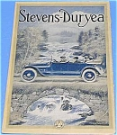 Click here to enlarge image and see more about item AU906BB1: Rare COLOR 1914 Stevens-Duryea AUTO Mag. Ad