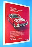Click here to enlarge image and see more about item AUTO707AA1: 1971 FORD MAVERICK Auto Ad