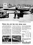 Click here to enlarge image and see more about item AV0121A4: 1961 BEECHCRAFT Twin-Bonanza AIRCRAFT Aviation Ad