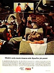 Click here to enlarge image and see more about item AV0121A7: 1963 TWA Airlines Magazine Ad
