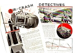 1939 AIR-CRASH INVESTIGATION DETECTIVES Mag. Article