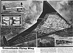 Click here to enlarge image and see more about item AV0218A5-2006: 1946 FLYING WING AIRCRAFT Aviation Mag. Article