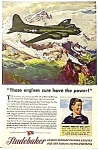 Click here to enlarge image and see more about item AV0322AA4: 1944 STUDEBAKER/BOEING FLYING FORTRESS Ad