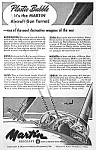 Click here to enlarge image and see more about item AV0322AA5: 1944 MARTIN AIRCRAFT GUN TURRET Mag. Ad