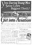 Click here to enlarge image and see more about item AV0406AA1: 1927 American Aviation School LEARN TO FLY Ad