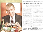 Click here to enlarge image and see more about item AV0419AA1: 1959 JAMES STEWART Air France Airline Ad