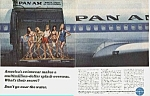 Click here to enlarge image and see more about item AV0628AA1: 1966 PAN AM Airline/SWIMSUIT Mag. Ad