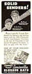 Click here to enlarge image and see more about item BASEB0121A2: 1947 STAN MUSIAL + MICKEY VERNON Louisville Slugger Ad