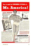 Click here to enlarge image and see more about item BB0121A2: 1947 ALAN STEPHAN - Mr. America - Muscle/Physique Ad