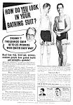 Click here to enlarge image and see more about item BB0121A4: 1939 DON'T BE SKINNY Magic Muscle Cure Ad