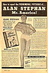 1947 ALAN STEPHAN - Mr. America - Muscle/Physique Ad