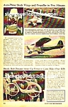 Click here to enlarge image and see more about item BI0121A1: 1947 BOWDEN FIBERGLASS Electric BICYCLE  Mag. Article