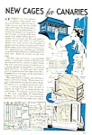 Click here to enlarge image and see more about item BIRD0121A1: 1939 BUILD CANARY CAGES Magazine Article