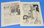 Click here to enlarge image and see more about item BIRD1009A2: 1930s BUILD BIRD AVIARY Magazine Articles