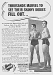 Click here to enlarge image and see more about item BO0529AA3: 1939 DON'T BE SKINNY Magic Muscle Cure Ad