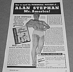 Click here to enlarge image and see more about item BODY831A1: 1947 ALAN STEPHAN - Mr. America - Muscle/Physique Ad