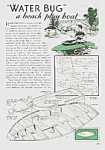 Click here to enlarge image and see more about item BR0529AA2: 1938 BUILD NEAT BEACH PLAYBOAT Mag. Article