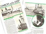 Click here to enlarge image and see more about item BT0218A1-2006: 1934 TUGBOATS - BIG OCEAN LINERS Magazine Article