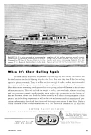 Click here to enlarge image and see more about item BT0218A3: 1945 DEFOE SHIPBUILDING Yacht Boat Magazine Ad