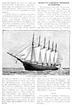 Click here to enlarge image and see more about item BT0219A1-2006: 1910 WORLDS LARGEST WOODEN SCHOONER Wyoming Mag Article