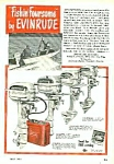 Click here to enlarge image and see more about item BT0525AA1: 1950 EVINRUDE Boat Motor Mag. Ad