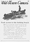 Click here to enlarge image and see more about item BT0526AA1: 1924 OLD TOWN CANOES Magazine Ad