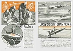 1939 SPEEDBOAT RACING Mag. Article