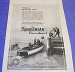 Click here to enlarge image and see more about item BT821A1: 1913 SPEEDWAY RUNABOUT Boat Ad