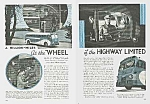 Click here to enlarge image and see more about item BU0529AA1: FAB 1939 GREYHOUND BUS TRIP Mag Article