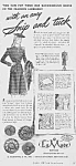 Click here to enlarge image and see more about item BU0614AA1: 1944 LaMode BUTTONS Sewing Ad