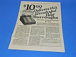Click here to enlarge image and see more about item CALC814AA1: 1926 BURROUGHS ADDING MACHINE Ad