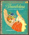 Click here to enlarge image and see more about item CB032513A15: THUMBELINA Little Golden Book - Tenggren