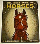 Click here to enlarge image and see more about item CB0831A3: First Book OF HORSES - 1949
