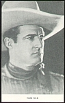 Vintage TOM MIX Cowboy Artview Postcard