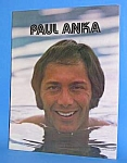 Click here to enlarge image and see more about item CE0514AA9: Fabulous 1970s PAUL ANKA Concert Program